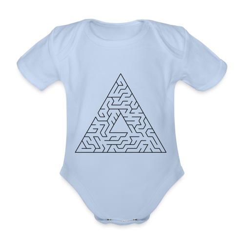 Triangle Maze - Organic Short-sleeved Baby Bodysuit
