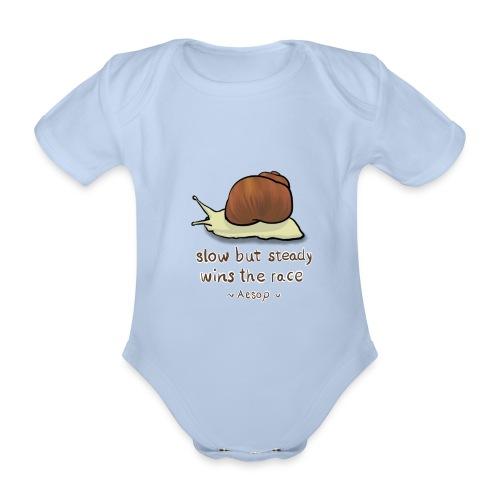 Snail - Organic Short-sleeved Baby Bodysuit
