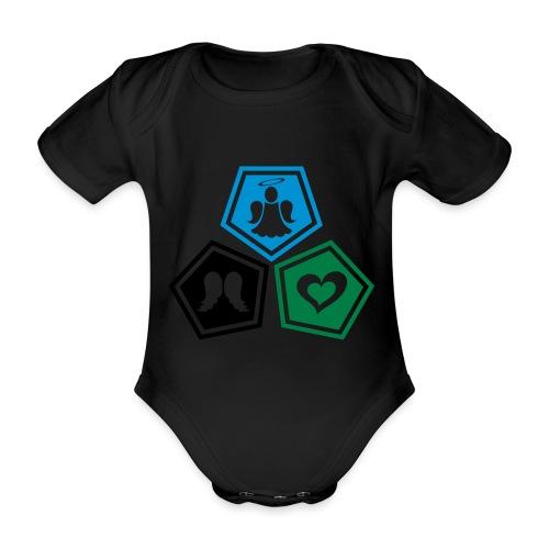 Tee shirt baseball Enfant Trio ange, ailes d'ange - Organic Short-sleeved Baby Bodysuit