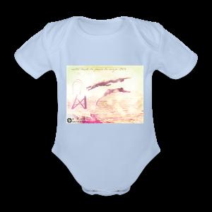 Salto desde Peña la Vieja - Body orgánico de maga corta para bebé