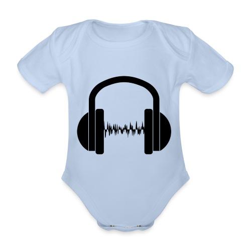Silueta de unos cascos en negro - Body orgánico de manga corta para bebé