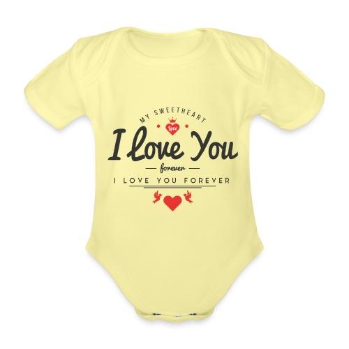 my sweetheart1 - Ekologiczne body niemowlęce z krótkim rękawem