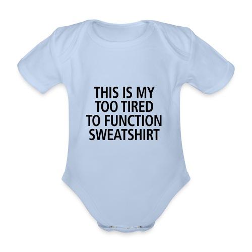 Sweatshirt black - Baby Bio-Kurzarm-Body
