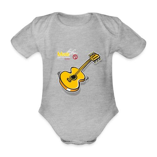 MusicForFun - dunkler Hintergrund - Baby Bio-Kurzarm-Body