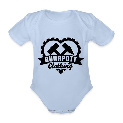 ruhrpott clothing 1c sw - Baby Bio-Kurzarm-Body