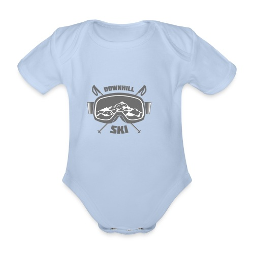 Downhill Ski - Organic Short-sleeved Baby Bodysuit