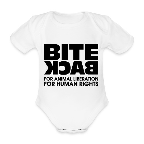 Bite Back logo - Baby bio-rompertje met korte mouwen
