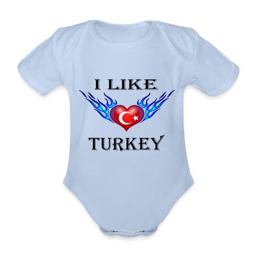I Like Turkey - Baby Bio-Kurzarm-Body