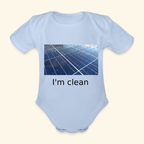 I'm clean - Organic Short-sleeved Baby Bodysuit