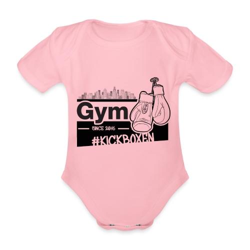 Gym in Druckfarbe schwarz - Baby Bio-Kurzarm-Body