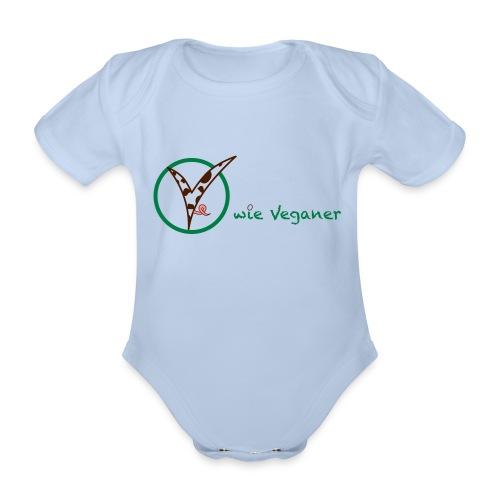 V wie Veganer - Baby Bio-Kurzarm-Body