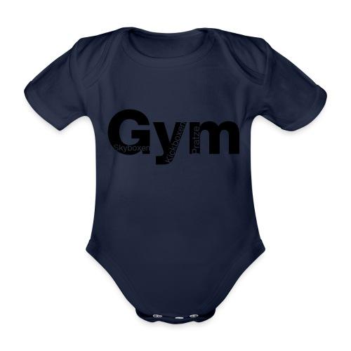 Gym Black - Baby Bio-Kurzarm-Body