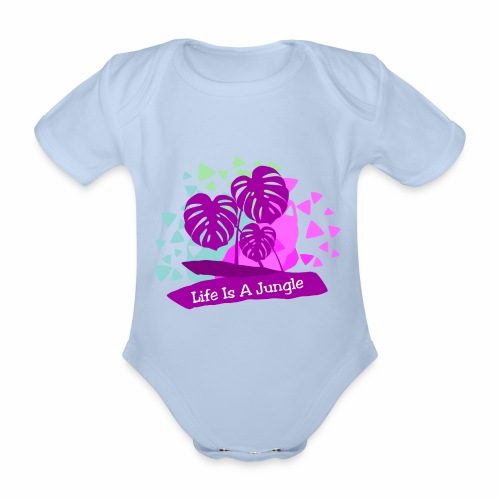 Life is a jungle - Organic Short-sleeved Baby Bodysuit