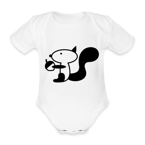 squirrelbw - Baby bio-rompertje met korte mouwen