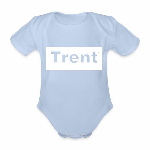 TRENT classic white block - Organic Short-sleeved Baby Bodysuit
