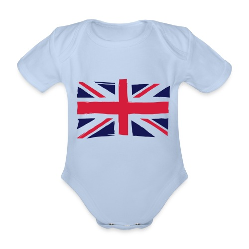 vlag engeland - Baby bio-rompertje met korte mouwen