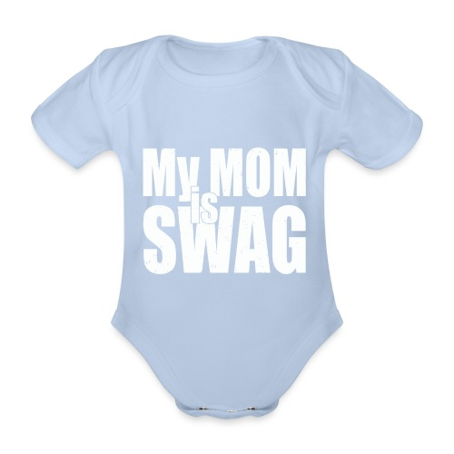 Swag White - Baby bio-rompertje met korte mouwen