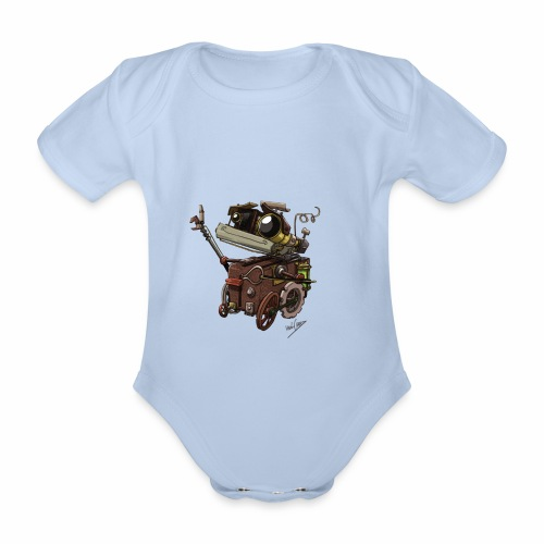 Bout 2 Robot - Organic Short-sleeved Baby Bodysuit