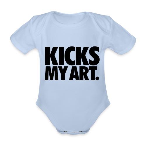 Kicks My Art By MizAl - Ekologiczne body niemowlęce z krótkim rękawem
