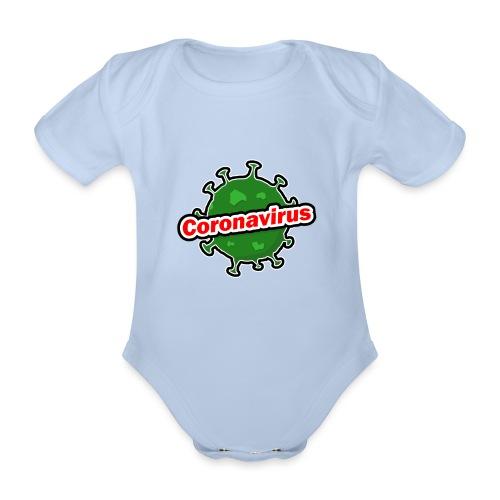 Coronavirus - Body orgánico de manga corta para bebé