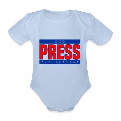 Press the buttons - Baby bio-rompertje met korte mouwen