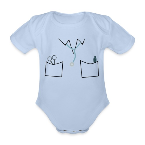 Scrubs tee for doctor and nurse costume - Organic Short-sleeved Baby Bodysuit