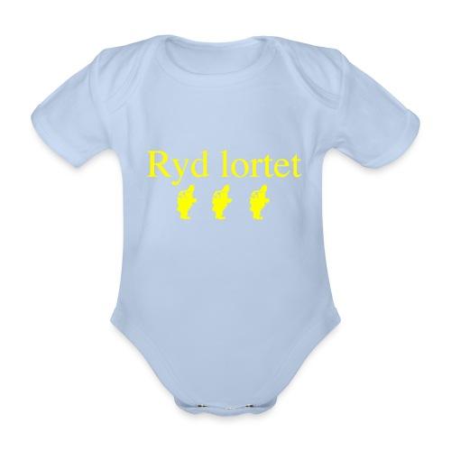 Ryd lortet - Børnekollektion - Kortærmet babybody, økologisk bomuld