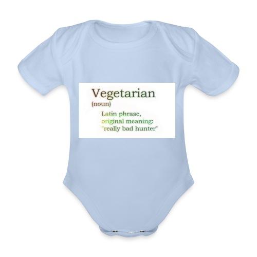 funny-vegetarian - Organic Short-sleeved Baby Bodysuit