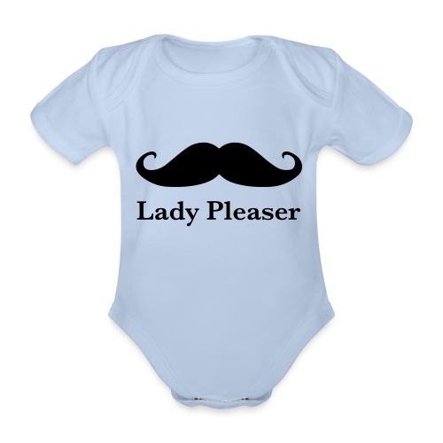Lady Pleaser T-Shirt in Green - Organic Short-sleeved Baby Bodysuit