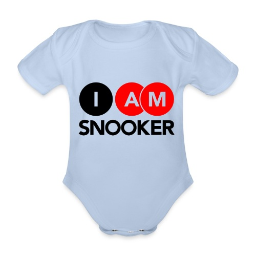I AM SNOOKER - Organic Short-sleeved Baby Bodysuit
