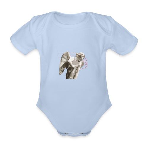 Angelo custode 2 - Body ecologico per neonato a manica corta