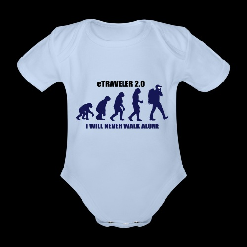 I WILL NEVER WALK ALONE - Organic Short-sleeved Baby Bodysuit