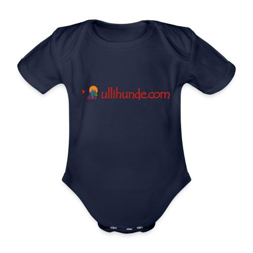 Ullihunde Schriftzug mit Logo - Baby Bio-Kurzarm-Body