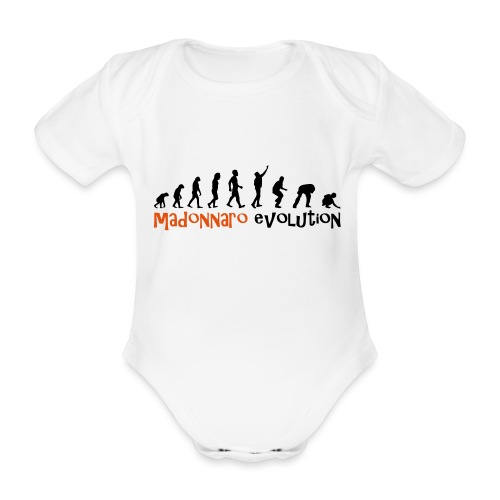 madonnaro evolution original - Organic Short-sleeved Baby Bodysuit