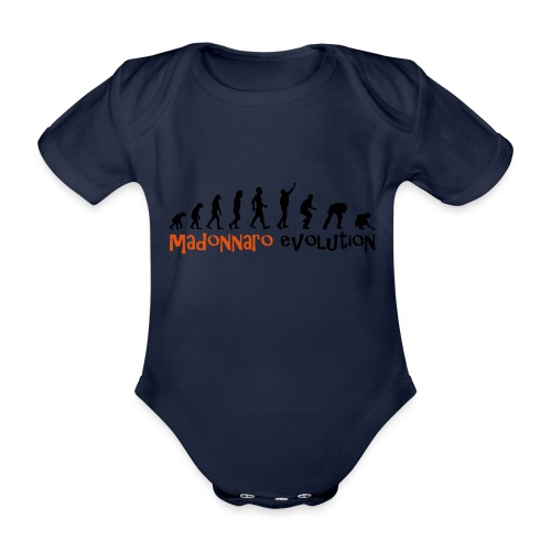 madonnaro evolution original - Organic Short-sleeved Baby Bodysuit