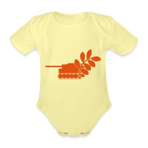Global Campaign on Military Spending Logo v2 - Organic Short-sleeved Baby Bodysuit