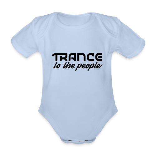Trance to the People Sort Logo - Kortærmet babybody, økologisk bomuld