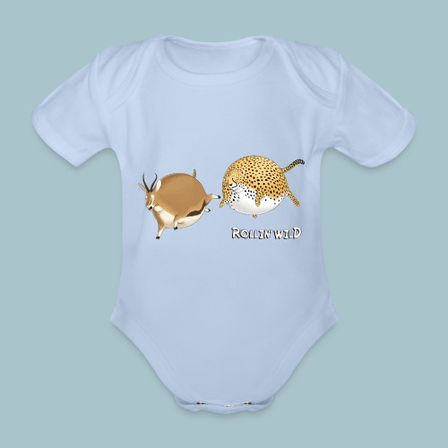 Rollin' Wild - the chase - Organic Short-sleeved Baby Bodysuit