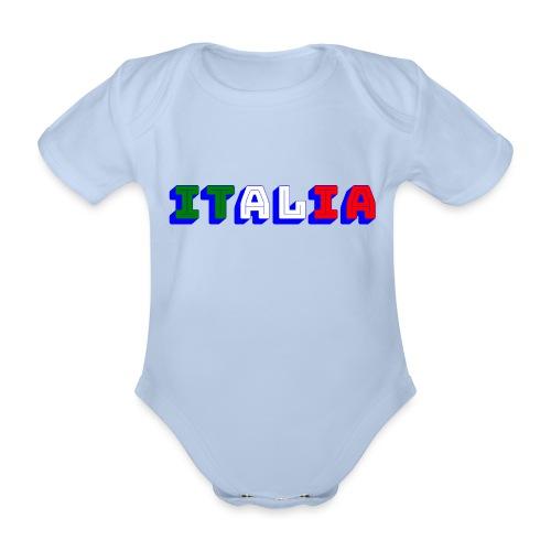 Italia - Body ecologico per neonato a manica corta
