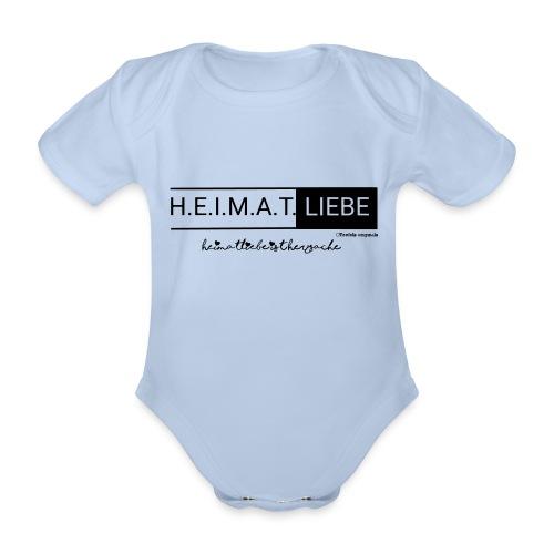 Heimatliebe Herzsache - Baby Bio-Kurzarm-Body