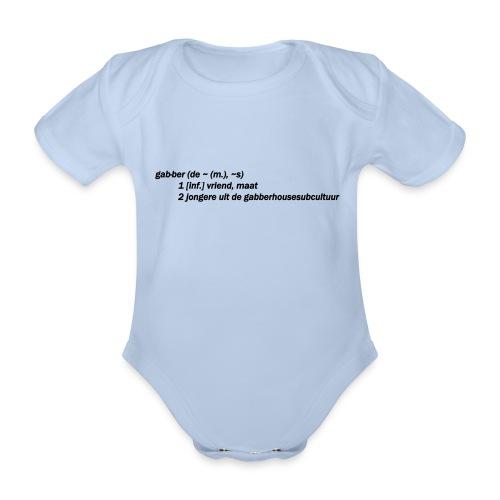 gabbers definitie - Baby bio-rompertje met korte mouwen