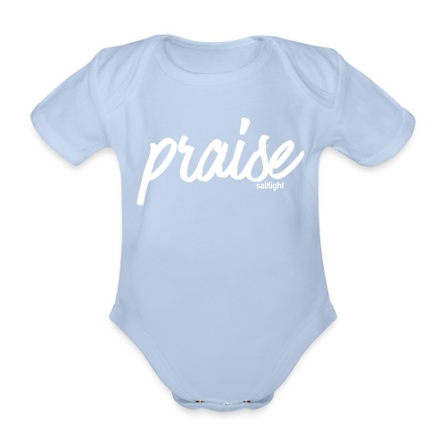 Praise (WHITE) - Organic Short-sleeved Baby Bodysuit