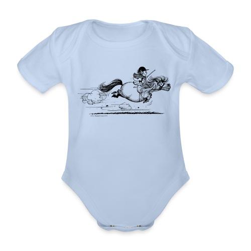Thelwell Cartoon Pony Sprint - Baby Bio-Kurzarm-Body