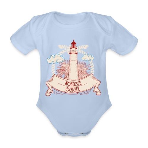 Leuchtturm Nordsee Ostsee - Baby Bio-Kurzarm-Body