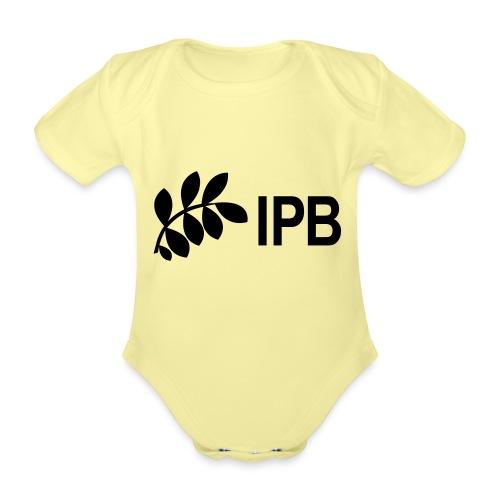 IPB version 3 black - Organic Short-sleeved Baby Bodysuit
