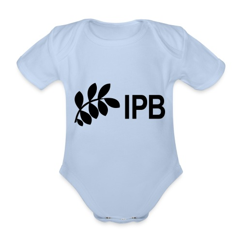 IPB version 3 black - Organic Short-sleeved Baby Bodysuit