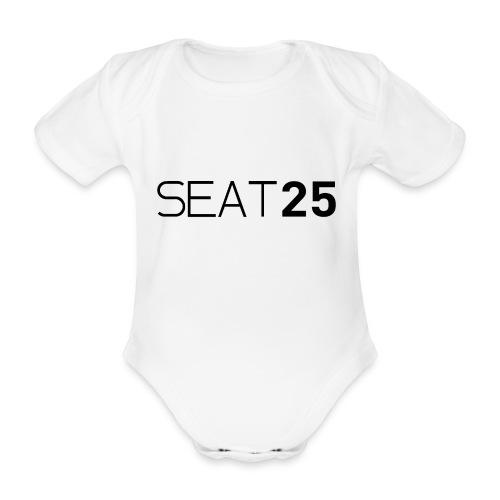 Seat25 Logo Dark - Organic Short-sleeved Baby Bodysuit