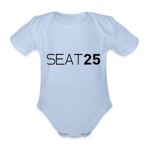 Seat25 Logo Dark - Organic Short-sleeved Baby Bodysuit