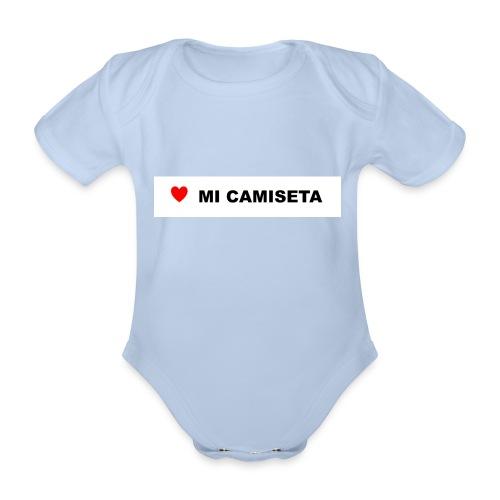 amomicamiseta - Body orgánico de maga corta para bebé