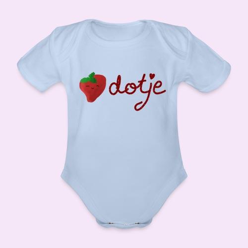 Baby aardbei Dotje - cute - Baby bio-rompertje met korte mouwen